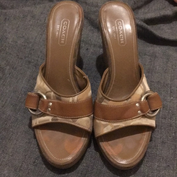 """Coach Shoes - Women's Wedge Sandals by Coach """"the Meredith""""."""